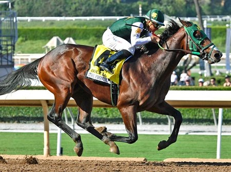 Bolt d'Oro wins the 2017 FrontRunner Stakes (G1)