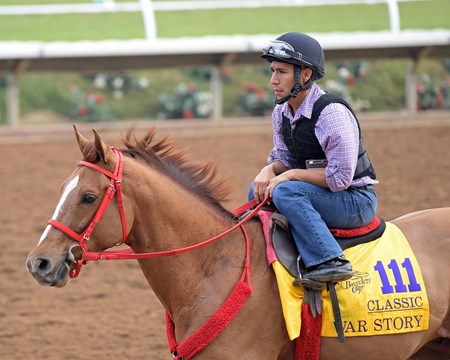War Story Breeders' Cup horses on track at Del Mar racetrack on Oct. 28, 2017 Del Mar Thoroughbred Club in Del Mar, CA.