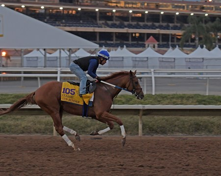 Gun Runner Breeders' Cup horses on track at Del Mar racetrack on Oct. 30, 2017 Del Mar Thoroughbred Club in Del Mar, CA.