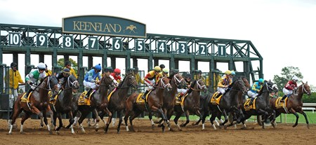 Start of the 2017 Claiborne Breeders' Futurity