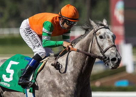 Unique Bella wins the 2017 LA Woman Stakes (G3)