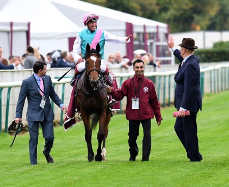 Enable after her win in the Qatar Prix de l'Arc de Triomphe