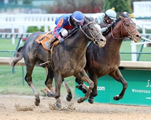 Gotta Go, left, wins the Street Sense Stakes over Lone Sailor