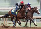 West Coast (outside) works at Santa Anita Park Oct. 29