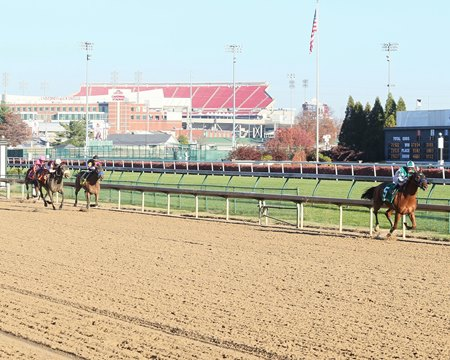 Blue Prize draws off in the Falls City Handicap Nov. 23 at Churchill Downs