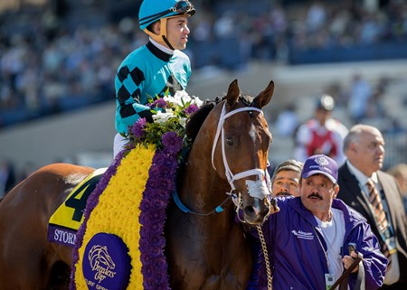 Stormy Liberal wins the Breeders' Cup Turf Sprint at Del Mar on November 3rd 2017