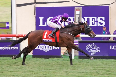 Mendelssohn wins the Breeders Cup Juvenile Turf on November 3, 2017.