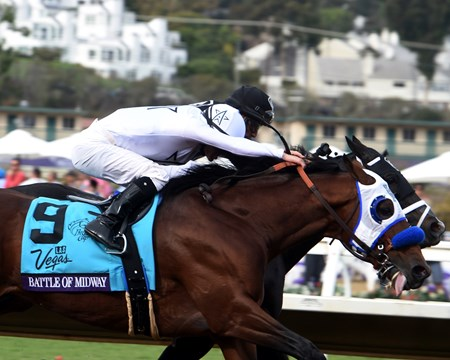 Battle of Midway wins the 2017 Breeders' Cup Dirt Mile