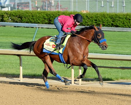 "Mike Pegram is back at the Derby this year with Rebel Stakes winner Hoppertunity.<br><a target=""blank"" href=""http://photos.bloodhorse.com/TripleCrown/2014-Triple-Crown/Kentucky-Derby-Workouts/i-Lvf7D2z"">Order This Photo</a>"