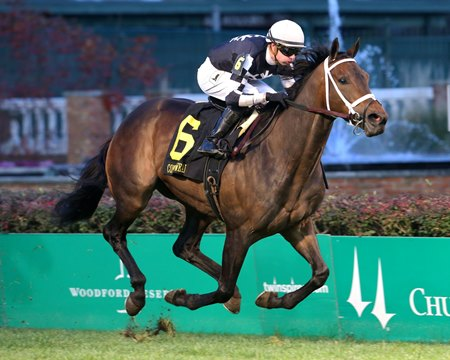 Mr. Misunderstood wins the Commonwealth Turf Stakes at Churchill Downs