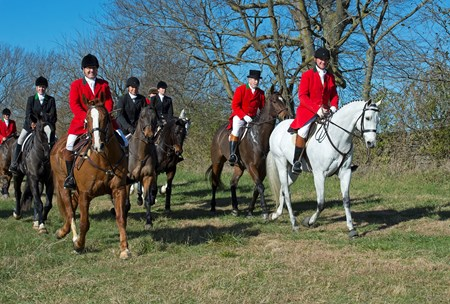 annual blessing and foxhunt at Shaker Village near Harrodsburg, Ky., with Long Run - Woodford Hounds foxhunts on Nov. 25, 2017.