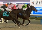 Moonlit Promise holds off Scotty's Model to win the Bessarabian Stakes at Woodbine