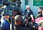 Bob Baffert discusses the scratching of Hoppertunity.