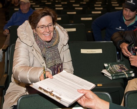 Hip 330 Sky Girl: Marette Farrell signs ticket for Goodman