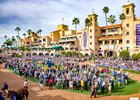 Del Mar's paddock during the 2017 Breeders' Cup in early November