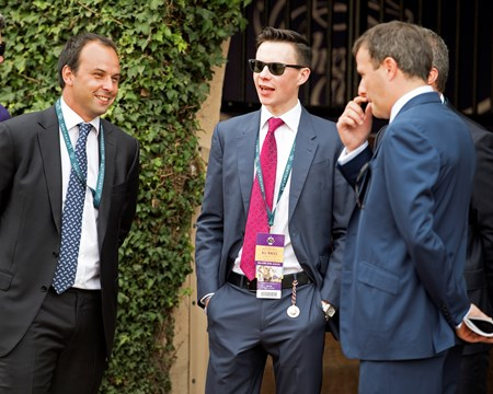 Joseph O'Brien, center/red tie.