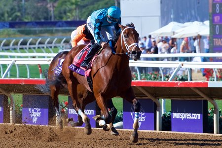 Roy H goes by Imperial Hint to win the Breeders' Cup Sprint at Del Mar