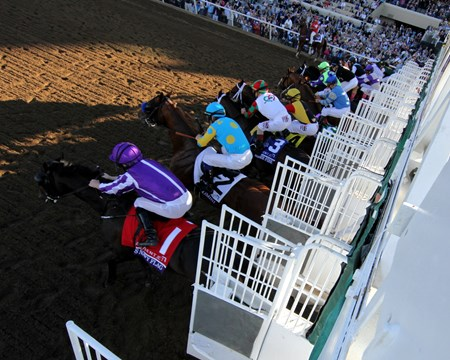 The start of the Breeders' Cup Juvenile at Del Mar on November 4, 2017