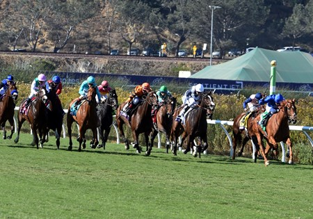 Wuheida wins the Breeders Cup Filly and Mare Turf on November 4, 2017