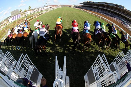The start of the Breeders' Cup Mile at Del Mar on November 4, 2017