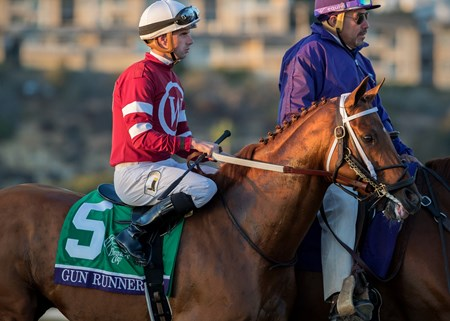 Gun Runner wins the 2017 Breeders' Cup Classic