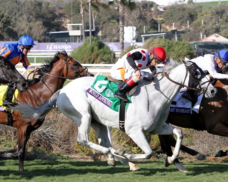 World Approval with John Velazquez win the Breeders' Cup Mile at Del Mar on November 4, 2017