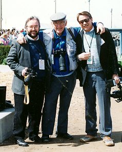 Photographers (L-R) John Engelhardt, Tony Leonard, and Patrick Lang at the Jim Beam Stakes