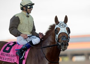 Mike Smith returns aboard Manitoulin after winning the Hollywood Turf Cup at Del Mar