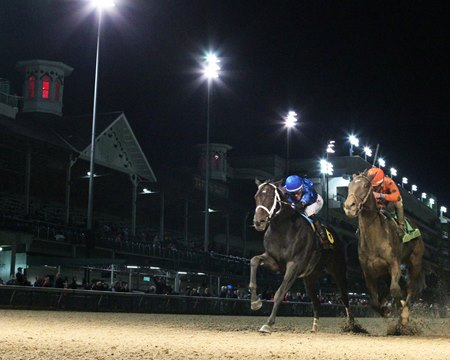 Enticed wins the Kentucky Jockey Club at Churchill Downs
