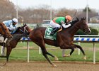 Sea Foam wins the Notebook Stakes at Aqueduct Racetrack