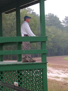 Kip Elser of Kirkwood Stables watches 2-year-olds train