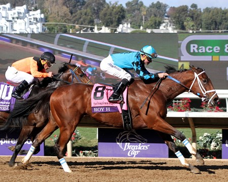 Roy H with Kent Desormeaux wins the Breeders' Cup Sprint at Del Mar on November 4, 2017