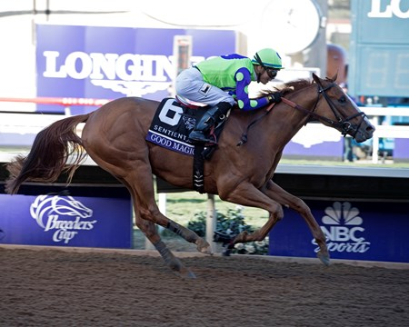 Good Magic wins the Breeders Cup Juvenile on November 4, 2017