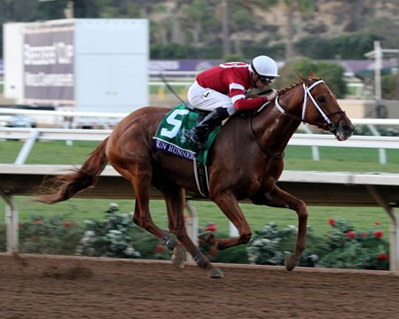Gun Runner with Florent Geroux win the Breeders' Cup Classic at Del Mar on November 4, 2017