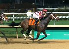 Farrell takes the Nov. 4 Chilukki Stakes by a length at Churchill Downs Sept. 23 to return to winning form
