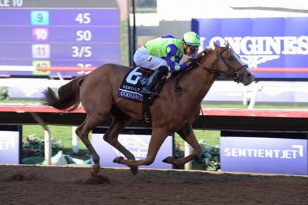 Good Magic wins the Breeders Cup Juvenile on November 4, 2017.