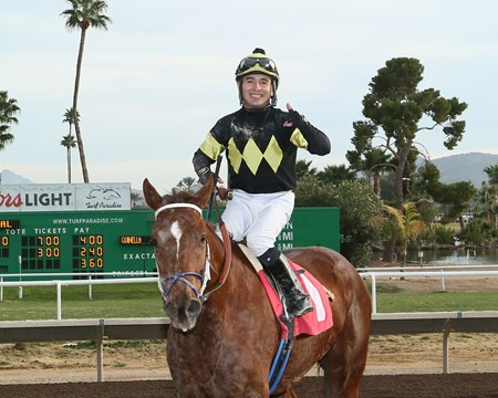 Peppy Miller wins the 2017 Kachina Stakes