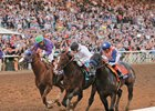 Bayern and California Chrome at the finish of the Breeders' Cup Classic.