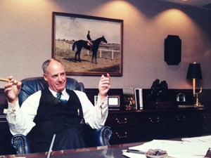 Oaklawn Park president Charles Cella in his office