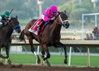 City of Light wins the Malibu Stakes at Santa Anita Park