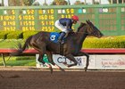 Majestic Heat scores in the Bayakoa Stakes at Los Alamitos