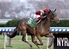 Catholic Boy draws clear in the Remsen Stakes at Aqueduct Racetrack