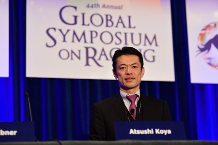 Atsushi Koya represented the Japan Racing Association at the Global Symposium on Racing