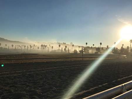 San Luis Rey Downs smolders in the aftermath of a devastating fire