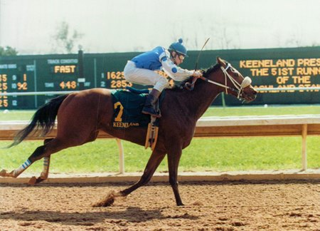 Willa On The Move winning 1988 Ashland Stakes at Keeneland