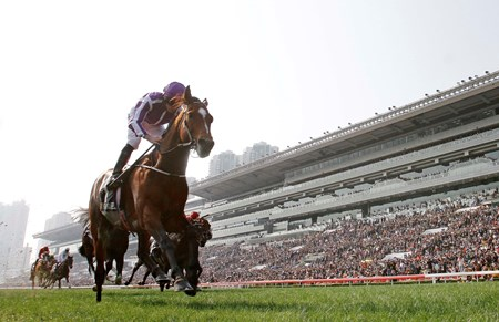 Highland Reel wins the 2017 Hong Kong Vase