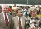 Bernie Daney with trainer Tim Ritchey (center) and wife Arlene at the 2003 Maryland Million Classic