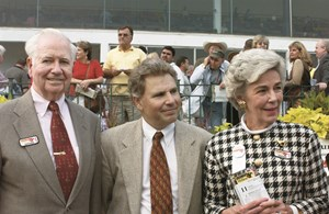 Bernie Daney with trainer Tim Ritchey and wife Arlene at the 2003 Maryland Million Classic