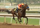 McKinzie cruises to the wire to win the Sham Stakes at Santa Anita Park