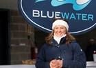 Meg Levy of Bluewater Sales bundles up against the frigid temperatures that have lingered since Christmas